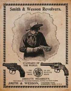 Nostalgic Images OD-1464 Smith And Wesson Revolvers Standard Metal Sign