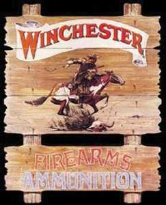 Nostalgic Images OD-939 Winchester Ammunition Express Rider Metal Sign