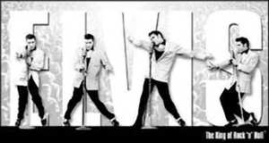 Nostalgic Images PD-1187 Elvis Presley King Montage Metal Sign