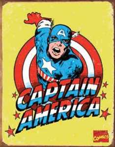 Nostalgic Images PD-1440 Captain America Retro Metal Sign