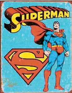 Nostalgic Images PD-1335 Superman Retro Metal Sign