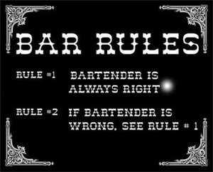 Nostalgic Images CG-639 Bar Rules Metal Sign
