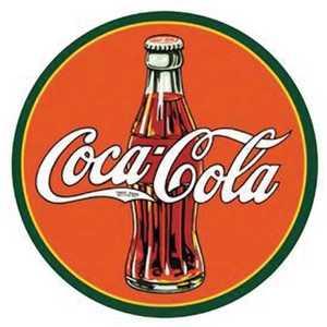 Nostalgic Images CC-1069 Coca-Cola 1930s Bottle Round Metal Sign