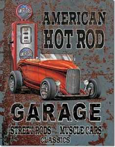 Nostalgic Images TD-1539 American Hot Rod Garage Metal Sign