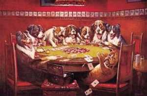 Nostalgic Images CD-497 Eight Dogs Poker Metal Sign