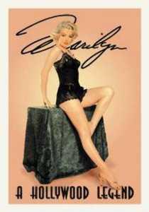 Nostalgic Images PD-650 Marilyn Monroe A Hollywood Legend Metal Sign