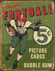 Nostalgic Images SD-1406 Topps 1956s Ball Metal Sign