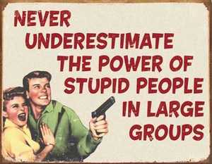 Nostalgic Images CD-1553 Stupid People Metal Sign