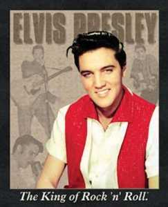 Nostalgic Images PD-881 Elvis Presley Portrait Metal Sign