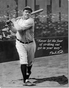 Nostalgic Images SD-1511 Babe Ruth No Fear Metal Sign
