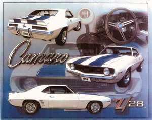 Nostalgic Images TG-718 1969 Z/28 Camaro Metal Sign