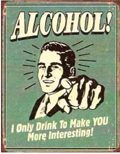 Nostalgic Images CD-1329 Alcohol interesting Metal Sign