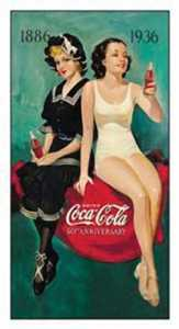 Nostalgic Images CC-1073 Coca-Cola 50th Anniversary Metal Sign