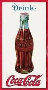 Nostalgic Images CC-1210 Coca-Cola 1915 Bottle Metal Sign