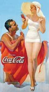 Nostalgic Images CC-1051 Coca-Cola Beach Metal Sign