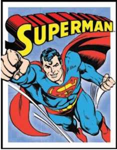 Nostalgic Images PD-1402 Superman Retro Panel Metal Sign