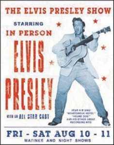 Nostalgic Images PD-1197 Elvis Presley Show Metal Sign