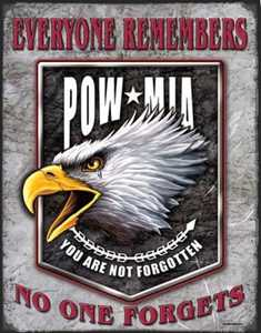 Nostalgic Images CD-1629 POW MIA Eagle Metal Sign