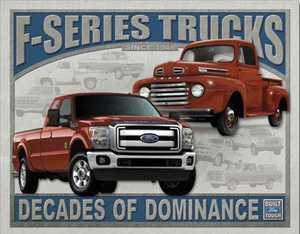 Nostalgic Images TD-1708 Ford F-Series Trucks Metal Sign