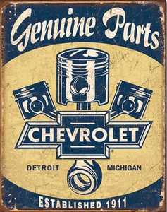 Nostalgic Images TD-1722 Chevrolet Genuine Parts Metal Sign