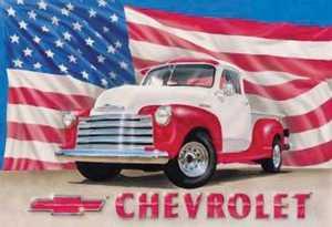 Nostalgic Images TD-704 Chevrolet 1951 Truck Metal Sign