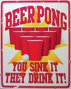 Nostalgic Images BG-752 Beer Pong Metal Sign