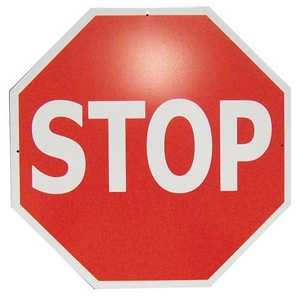 Nostalgic Images CG-745 Stop Sign Metal Sign