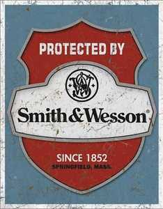 Nostalgic Images OD-1682 Smith And Wesson Metal Sign