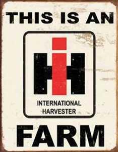 Nostalgic Images TD-1279 international Harvester Farm Metal Sign