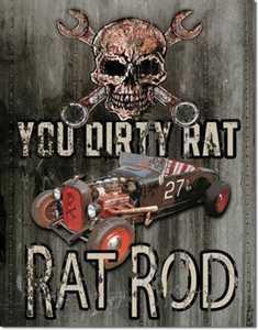 Nostalgic Images TD-1538 Rat Rod Metal Sign