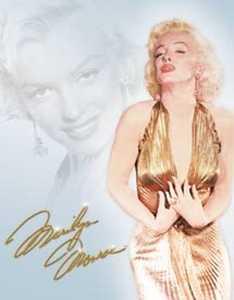 Nostalgic Images PD-1656 Marilyn Monroe Gold Dress Metal Sign