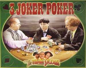 Nostalgic Images PG-740 The Three Stooges 3 Joker Poker Metal Sign