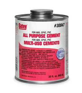 Oatey 30834 Cement For Cpvc-Pvc-Abs 16 oz