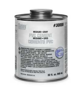 Oatey 30883 Pvc Cement Med Gray 4 oz