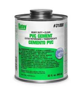 Oatey 308763 Pvc Cement Heavy Duty Clear 16 oz