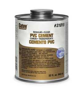 Oatey 310153 Pvc Cement Regular Clear Qt
