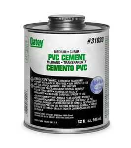 Oatey 310173 Pvc Cement Med Clear 4 oz