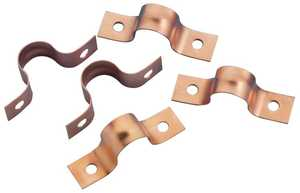 Oatey 33995 Strap 1/2 in 2-Hole Copper Plated/12