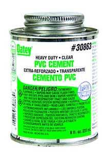 Oatey 308633 PVC Heavy Duty Clear Cement 8 oz