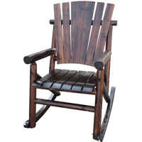 United General Supply TX 93859 Char-Log Single Bench Rocker