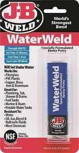 J-B Weld Company 8277 Water Weld Epoxy Adhesive Off-White 2 Oz