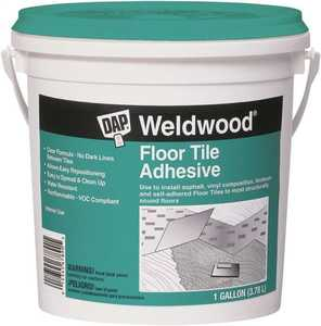 Dap 00137 Weldwood Interior Floor TIle Adhesive Clear Gallon