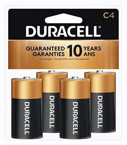 Duracell MN1400R4ZX Coppertop Alkaline C Batteries 4-Pack