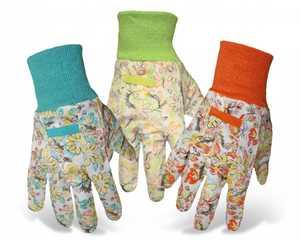 Boss Gloves 626 Ladies' Flowered Garden Gloves With Knit Wrist