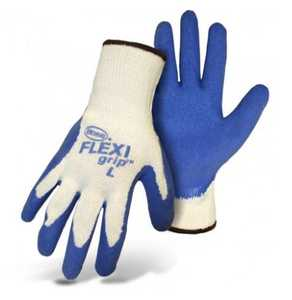 Boss Gloves 8426M Boss Flexi Grip Blue Latex Palm String Knit, Size Medium