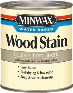 Minwax 61807 Water-Based Wood Stain Clear Tint Base Quart