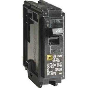 Square D HOM120CP Circuit Breaker 20a 1pole