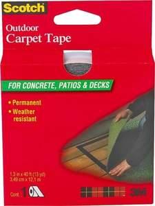 Scotch CT3010DC 1.3-Inch X 13-Yard White Outdoor Carpet Tape