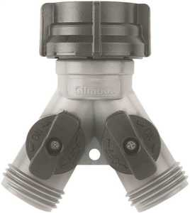 Gilmour 17 Garden Hose Y-Connect With Dual Shut-Off Valve