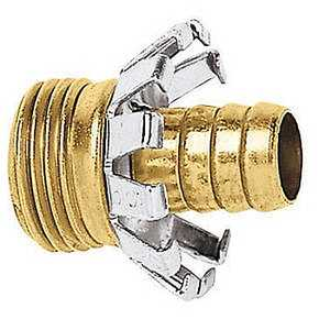 Gilmour C58M 5/8-Inch Brass Male Clinch Hose Coupler